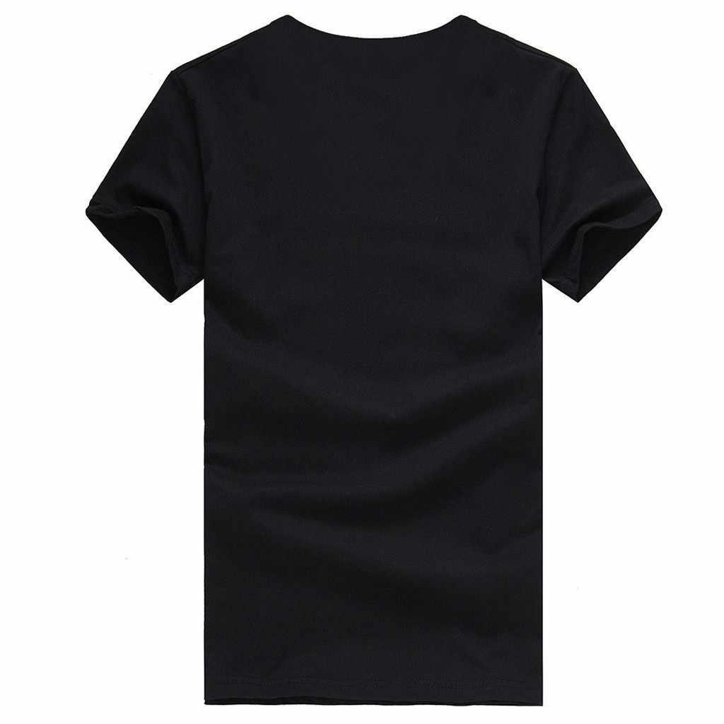 패션 블랙 구멍 남자 인쇄 운동복 피트 니스 짧은 소매 셔츠 편안한 통기성 상단
