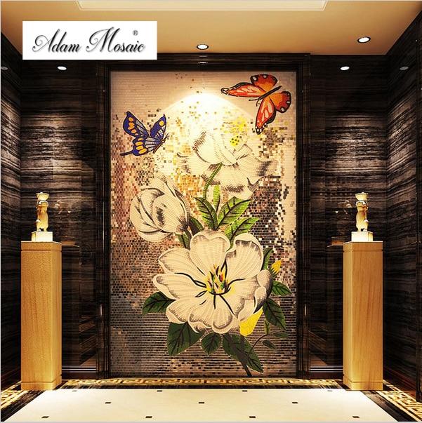 Mosaicos Bisazza flor de pared para cocina salpicaduras de azulejos ...