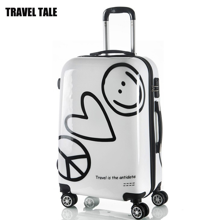 Travel tale 20,24 exported to American white spinner rolling luggage trolley travel suitcase