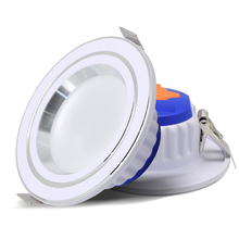 AC220V 7W LED Downlight  Ultra Thin 220V Tricolor Changeable Down Light dimmable Waterproof Recessed Ceiling