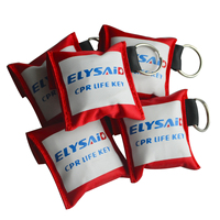 New 100Pcs/Lot CPR Resuscitator Mask CRP Face Shield With Keychain Key Ring One Way Valve With Gloves Emergency Rescue Kit