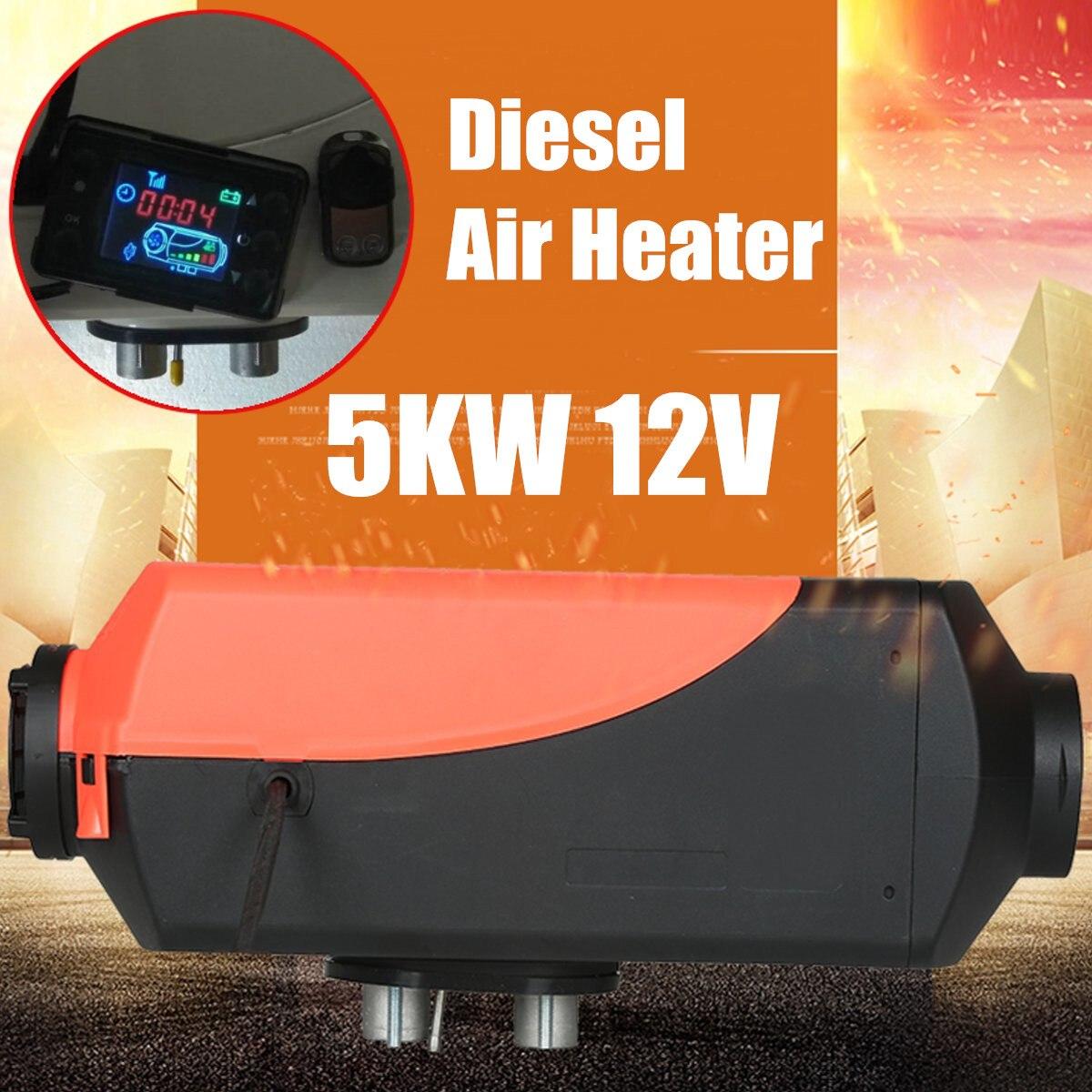 5kw 12 В Дизельный Нагреватель ЖК-переключатель дистанционного Управление комплект для плоских автомобиль грузовик автобус