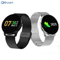 Ollivan Smart Watch OLED Color Screen Smartwatch Men women Fashion Fitness Tracker Heart Rate monitor Blood Pressure Wristband