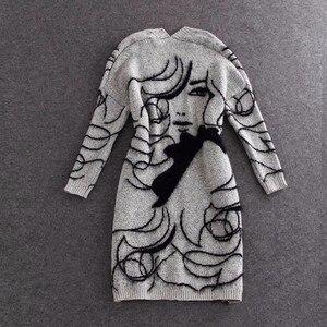 Image 2 - Twotwinstyleニットロングセータートレンチコート女性秋冬カーディガンバットウィングスリーブ女性ジャンパーカーディガン2020