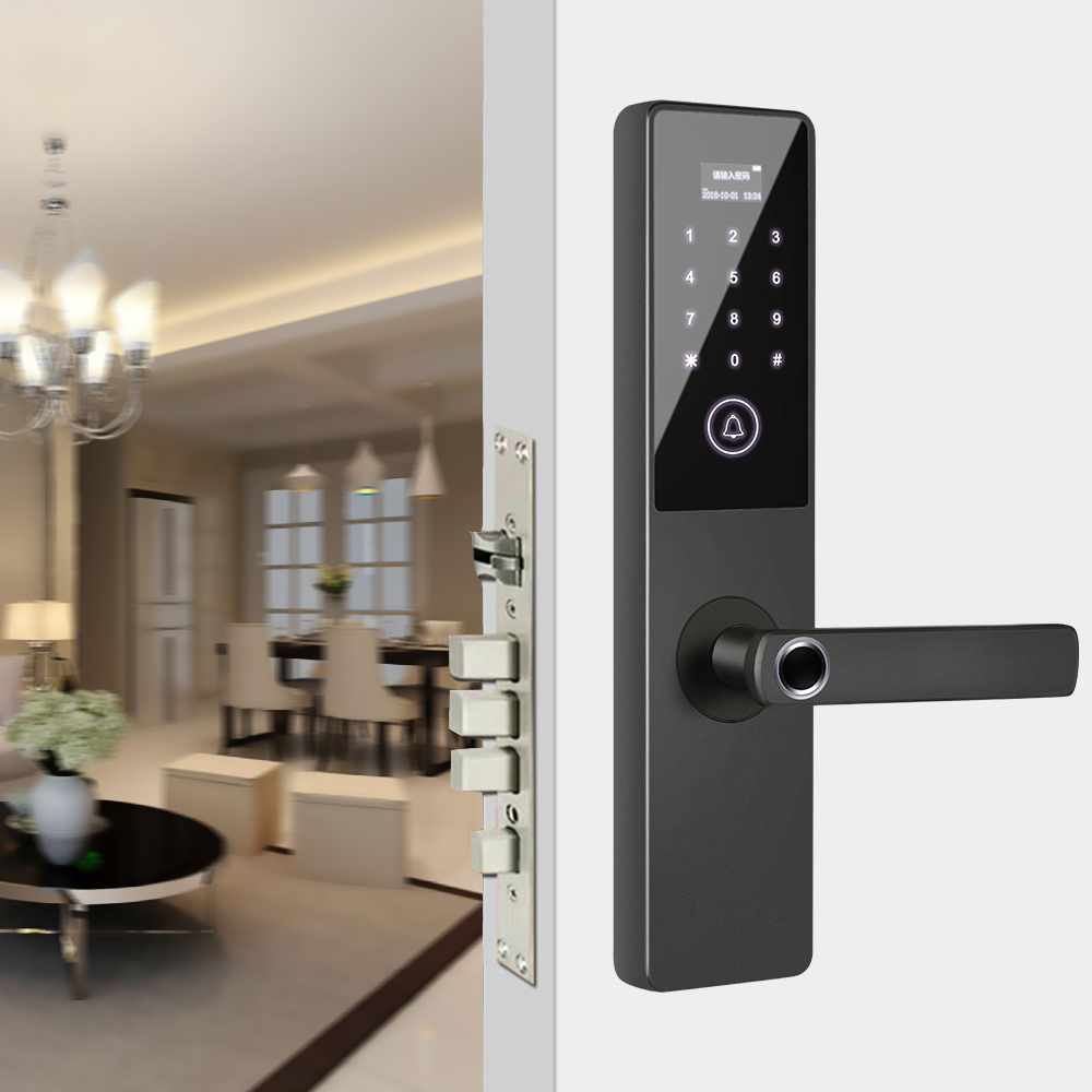 Home Security Biometric Lock Smart Door Fingerprint Touchscreen Lock Anti-Theft