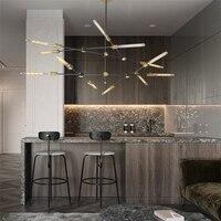 Retro Iron Art Chandelier Lighting Nordic Simple Industrial Branch Lustres Decor Lamps Restaurant Living Room Modern Chandeliers
