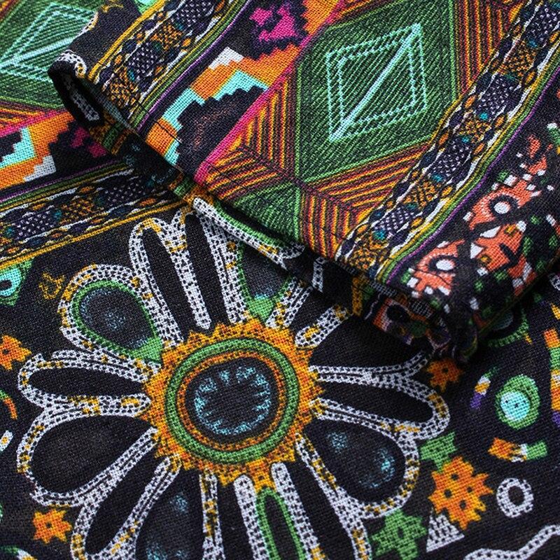 ZANZEA Fashion 2018 Women Blouse Autumn Round Neck Long Sleeve Shirt Loose Casual Vintage Print Blusas Femininas Plus Size Tops 5