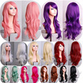 Hot Sell Lolita Cosplay Full Lace Wigs Long Wavy Synthetic Hair 28inch Perruque Multi-color Hairpieces For Stage/Party