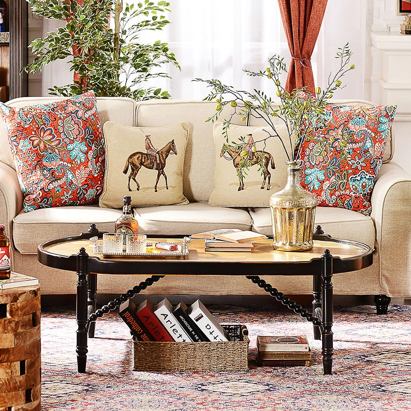 French Country Living Room Coffee Table: US Wood Furniture French Country Style Living Room