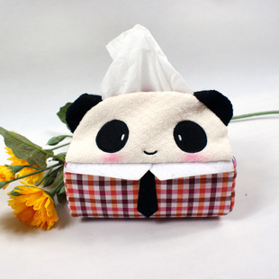071868 new design cute animal cartoon fabric tissue box cover fashion creative home decoration free shipping
