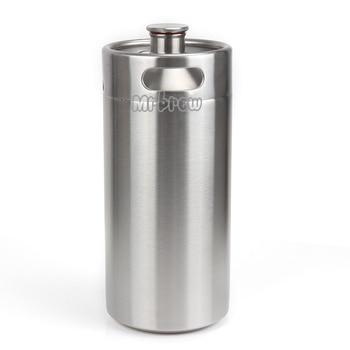 304 Stainless Steel 5L/3.6L/2L Mini Keg Beer Growler Portable 1