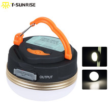 T-SUNRISE Mini Portable Camping Lamp Outdoor USB Rechargeable Lighting 3W Warm White LED Lantern Light Waterproof for Tent стоимость