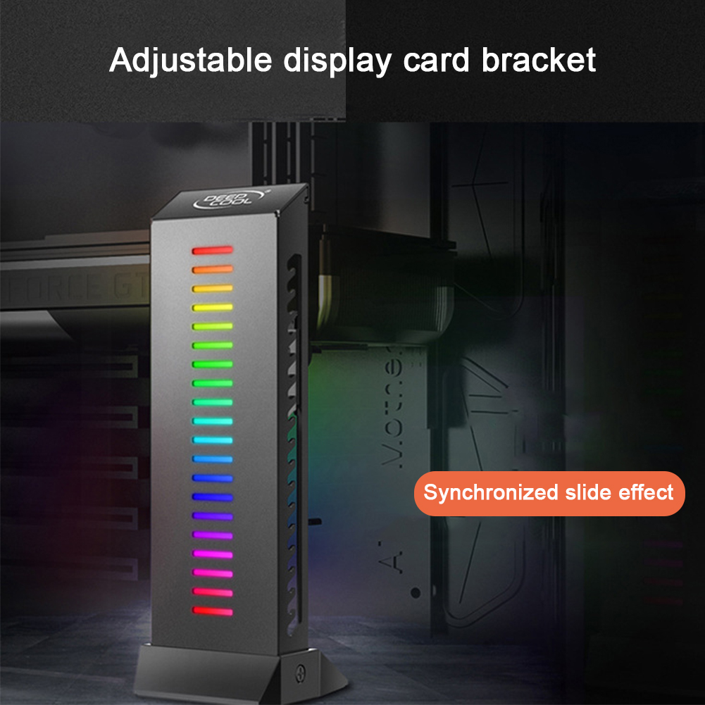 GH01 ARGB GPU Stand Bracket Protector Practical Graphics Card Holder Wire Hiding Addressable Adjustable Durable Support Flexible image