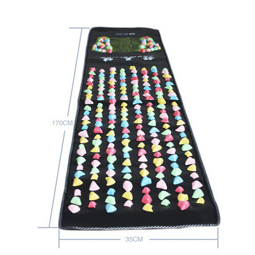 Medialbranch Colorful Plastic Foot Massager Pad Acupuncture Cobblestone Yoga Mat 175*35cm