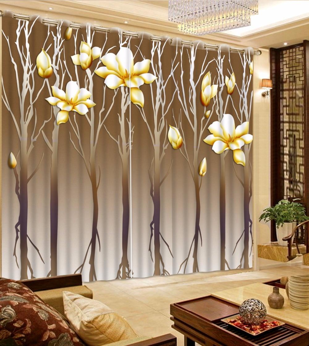 Blackout 3D Curtains Beautiful flower Design Bedroom ... on Beautiful Bedroom Curtains  id=94550