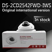 W magazynie darmowa wysyłka english version DS-2CD2542FWD-IWS 4MP WDR Mini Dome Network Camera Audio z WIFI