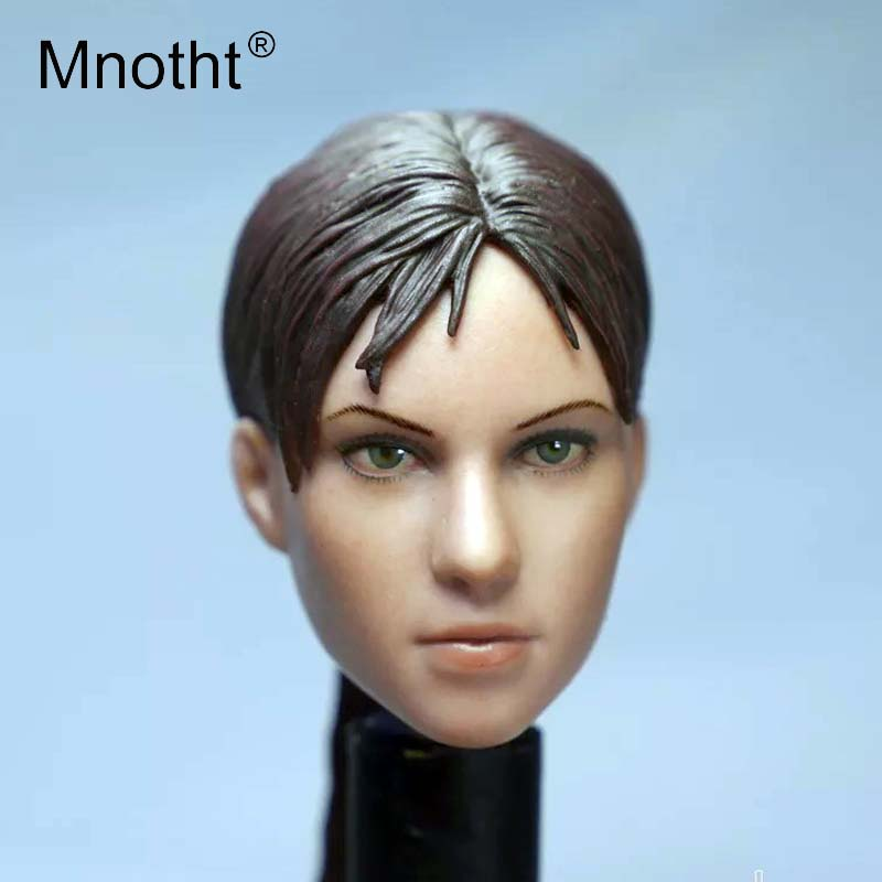 Mnotht 1/6 Scale Head Carving Models SO-012 Resident Evil Jill Beauty Head Sculpt Toys For 12in Female Body Action Figures m3 1 6 stairs batman robin detective blake joseph gordon blake head sculpt carving for hot toys body for 12phicen action figure