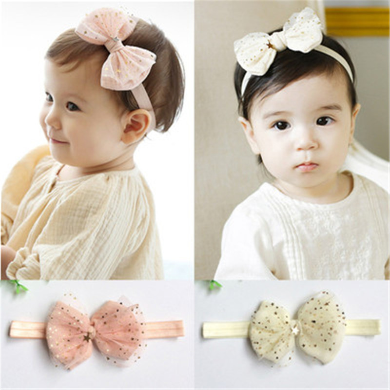 Ideacherry Fashion Newborn Toddler Headdress Children Hair Accessories Baby Headband Lace Flowers Cute Kid Girl Elastic Headgear