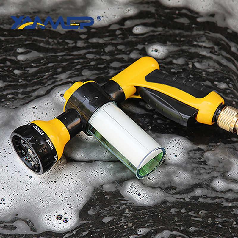 Wasstraat Waterpistool Schuimende Water Pistool Hoge Druk Gieter Schuim Verstelbare Waterstroom Multifunctionele Reiniging Band Xammep
