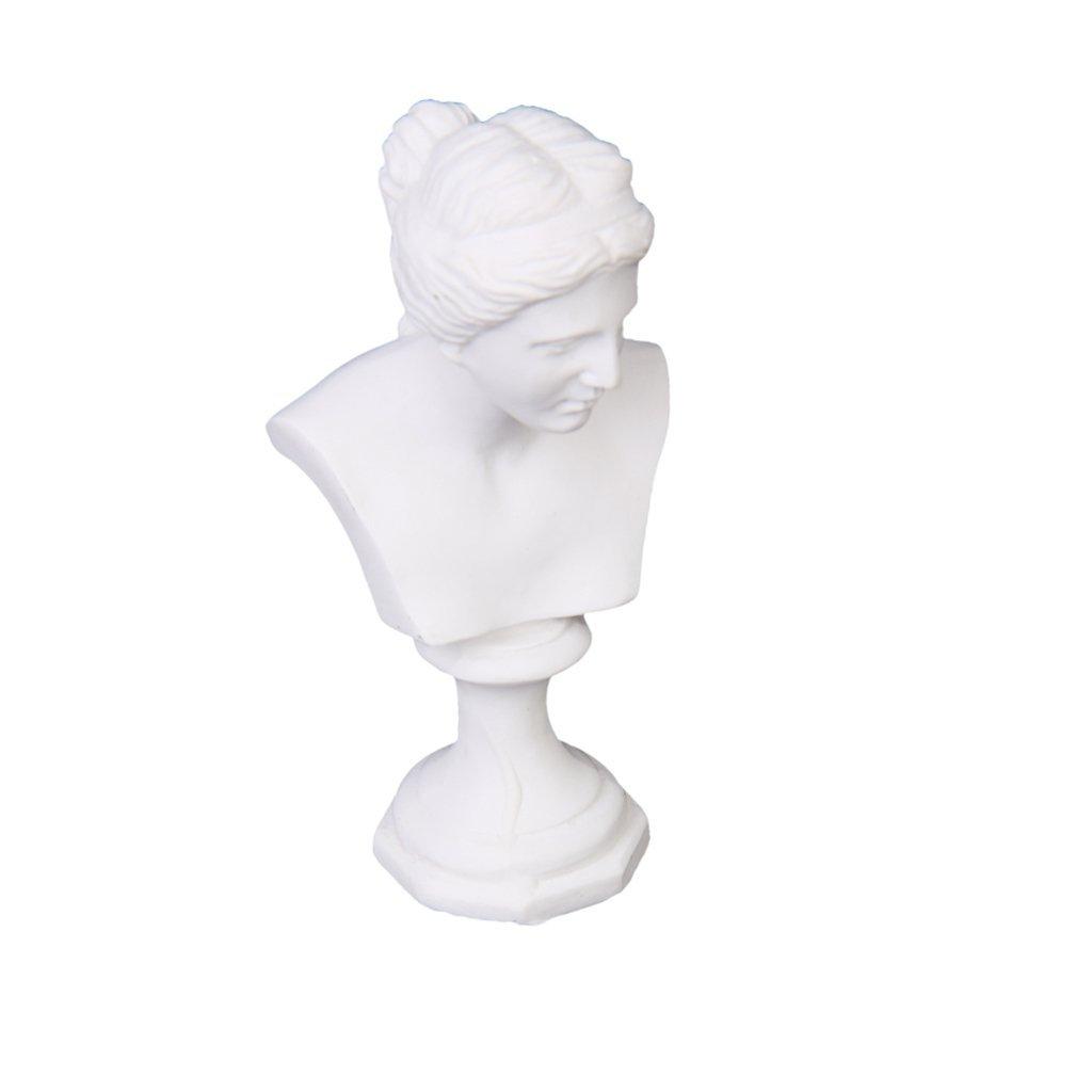 Maison de Poupee Statue Miniature vénus Buste Sculpture Blanc