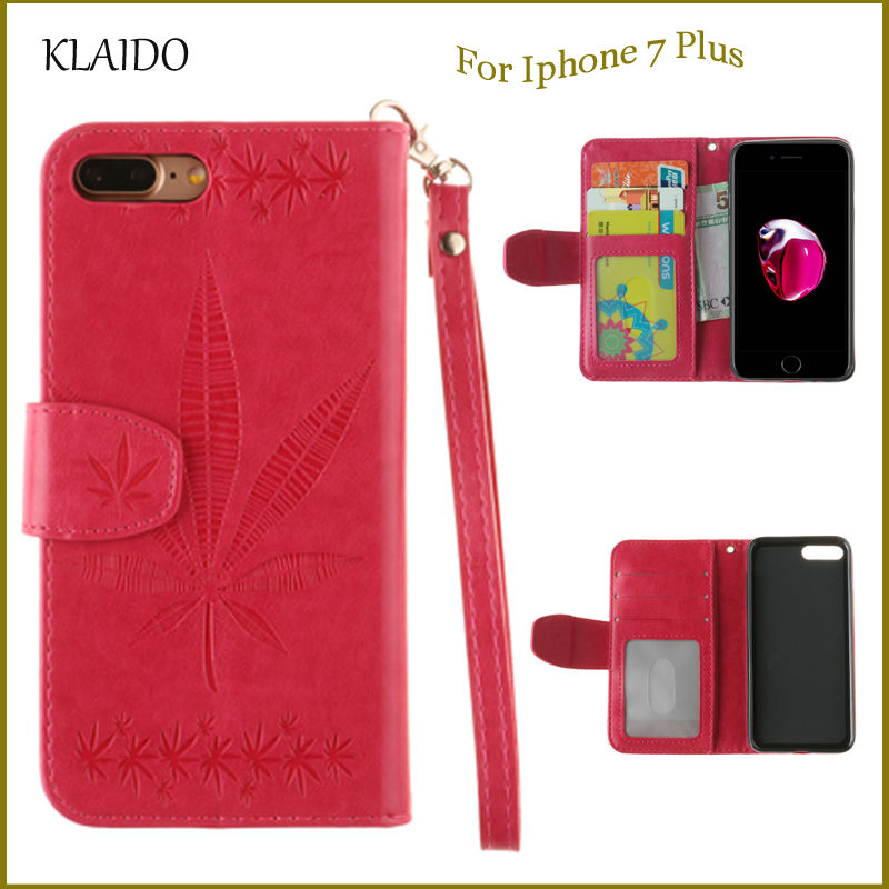 KLAIDO Mobile Téléphone Étui En Cuir Pour iPhone 6 6 S Plus Flip  Portefeuille Cas de couverture pour Apple iPhone 7 Plus Avec Fente Pour  Carte stand cas 47ea2d44dd1