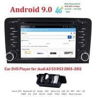 2Din 71024x600 QuadCore 2GB/16GB/32GB Android 9.0 PC Car DVD GPS For Audi A3 S3 2003 2013 With Stereo Radio WiFi 4G OBD DVR CAM