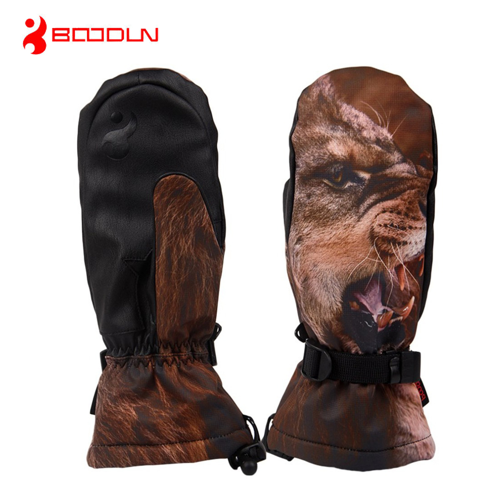 BOODUN Men Ski Gloves Waterproof Windproof Non-slip Snow Skating Skiing Gloves Winter Keep Warm Mittens Gloves