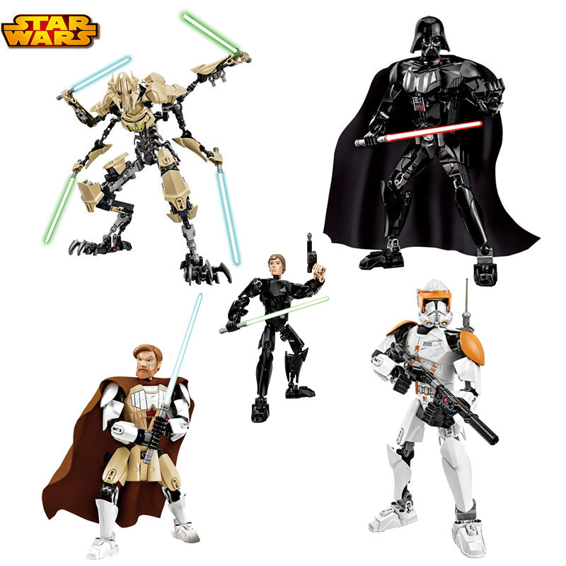 2016 New Star Wars 7 Common Grievous With Lightsaber Storm Trooper W/Gun Determine Toys Constructing Blocks Set Youngsters Toys Xmas Items