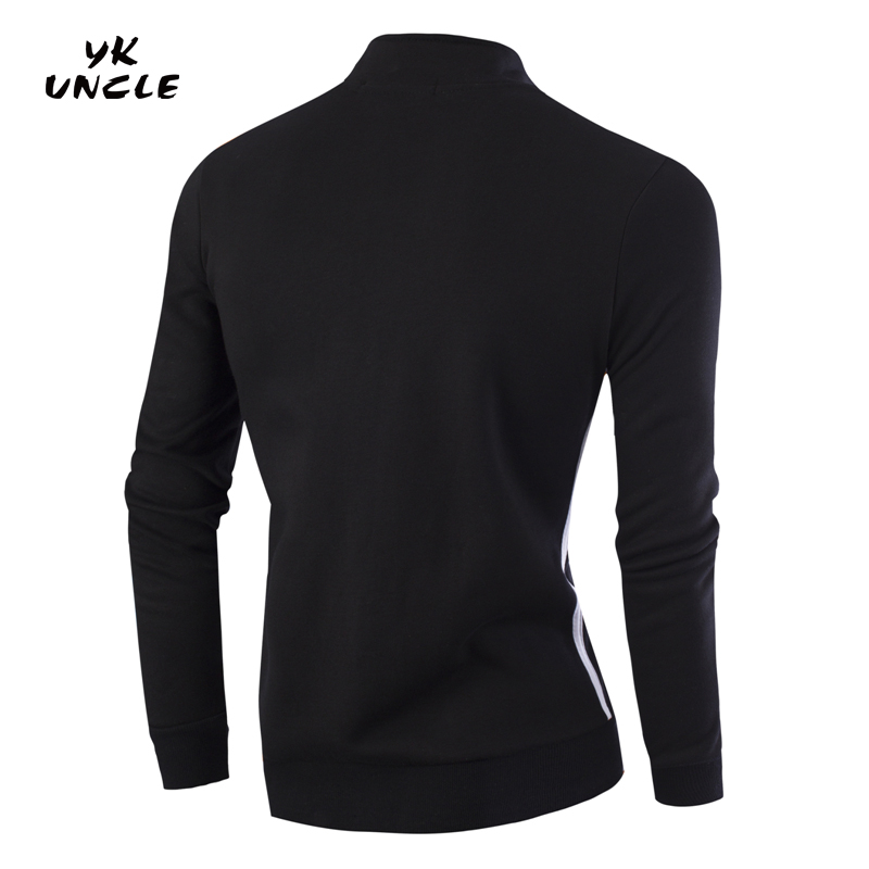 2016 New Brand Mens Sportswear Hoodies Striped Zipper Men Tracksuits Stand Collar Sweatshirts&Coats for Men Size M-4XL,YK UNCLE