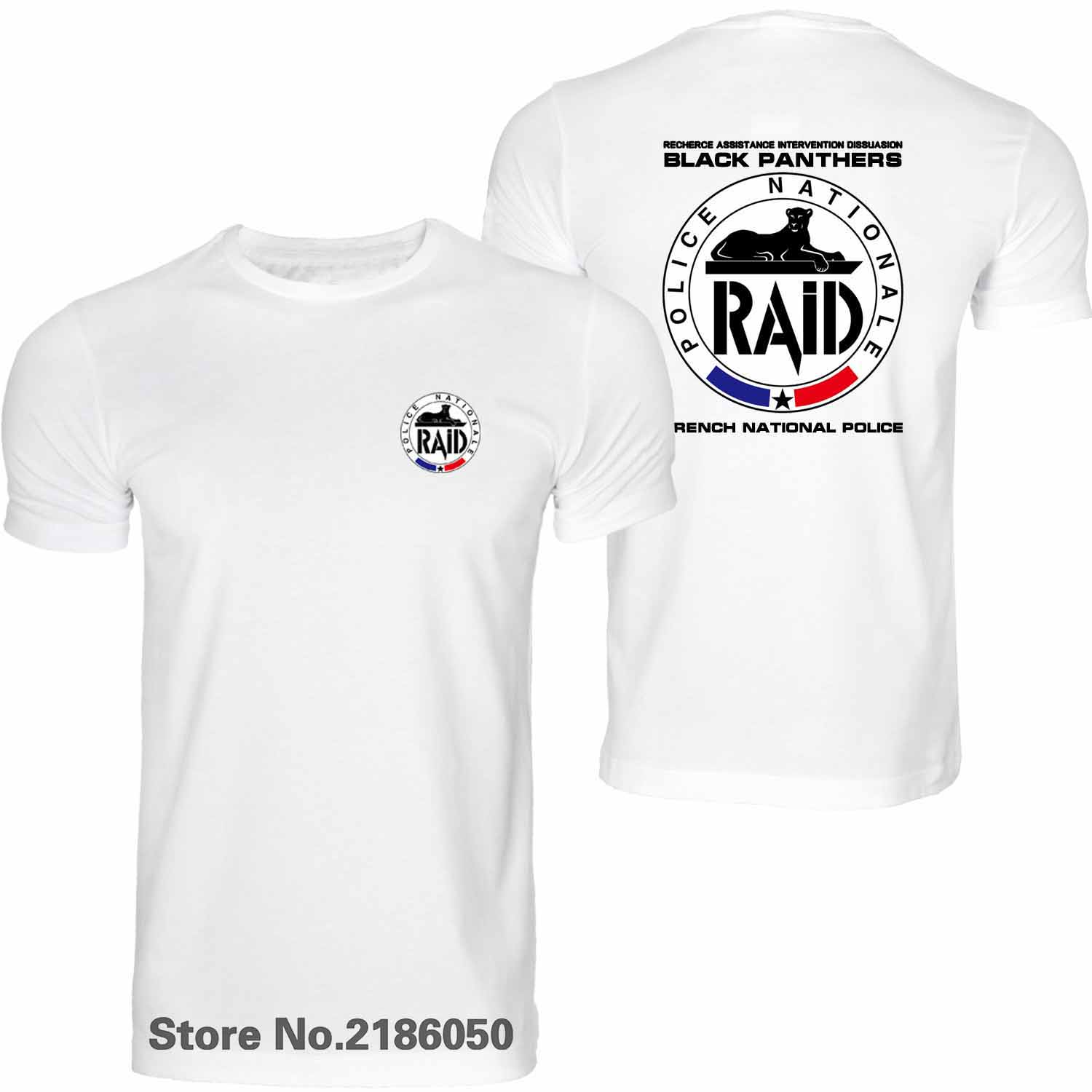Smart New France French Special Elite Police Forces Unit Gign Raid Bri Black T Shirt Summer Mens Short Sleeve Tshirt Tees Tops Men's Clothing