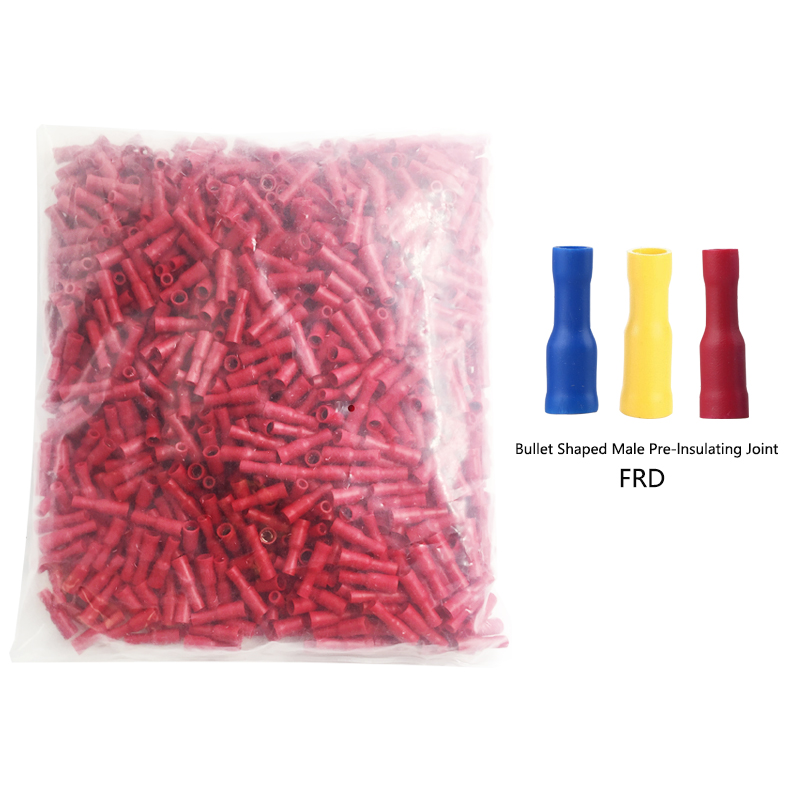 1000PCS electrical connectors for cable Bullet male and female wire pair connector MPD/FRD1.25-156/2-156/5.5-195 crimp terminal 1000pcs dupont jumper wire cable housing female pin contor terminal 2 54mm new