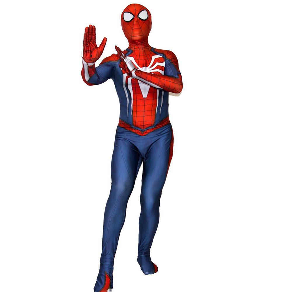 Insomniac Spider man Cosplay Civil War Spider Man Suit Halloween Costumes Men Boys Adult Fancy Ball