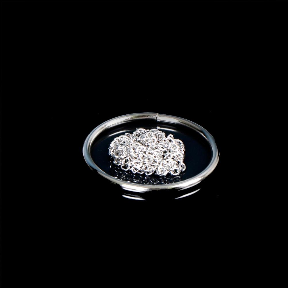 2Pcs Strong Magic Trick Black Himber Ring Close Up Linking Finger Ring Props US