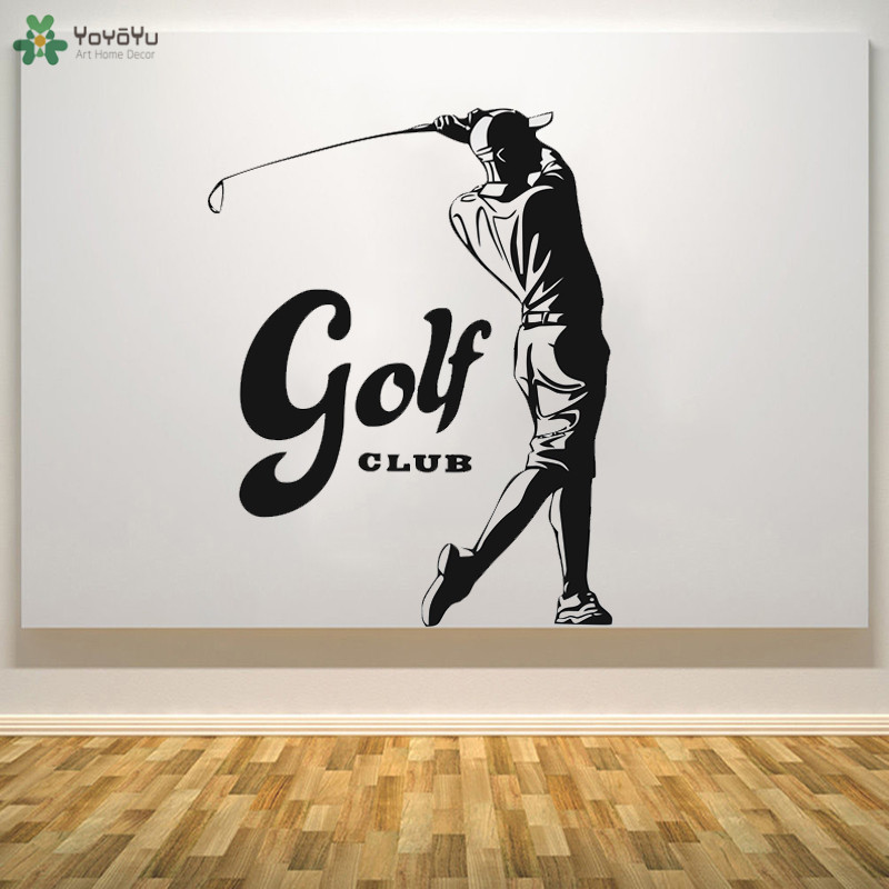 Us 7 78 28 Off Yoyoyu Wall Decal Golf Boys Sticker Vinyl Decor For Course Outdoor Sports Art Wallpaper 40 Colors Availableqq371 In