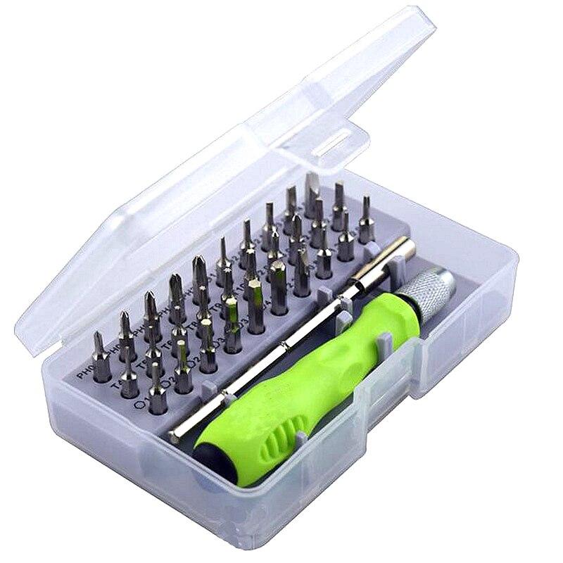Destornillador de precisión conjunto de 32 en 1 mini destornillador magnético Set, teléfono móvil iPad Cámara mantenimiento herramienta torx
