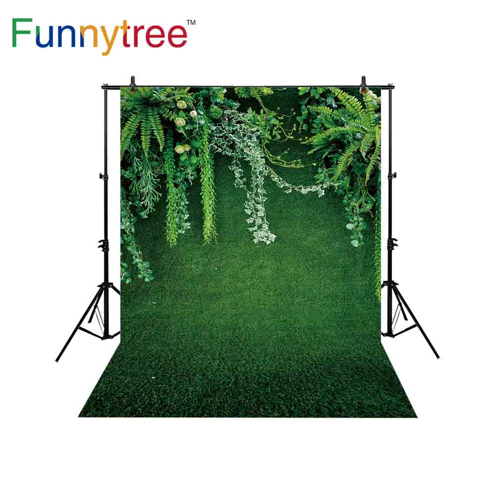 Funnytree grass backdrop photography green summer holiday jungle leaves wedding celibration decoration photo booth background