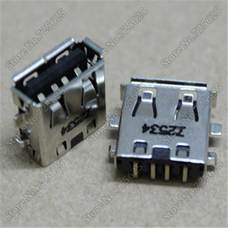 2.0 USB Jack Socket Connector For Asus G73 G73JH G73JF G73JW G73SW UL30 UL30V UL30VT U32U UL20FT UL20A USB Female Port 2pcs/lot