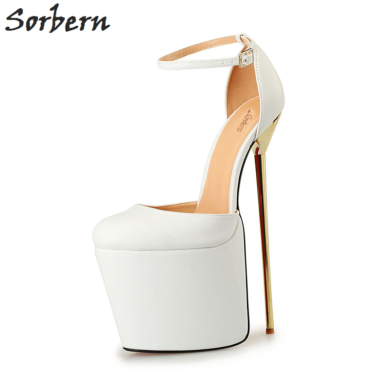 Sorbern Unisex 20Cm Extrem High Heels 2017 Party Shoes Zapatos Mujer Alto Con Plataforma Evening Club Dance Heels Size 40-50Sorbern Unisex 20Cm Extrem High Heels 2017 Party Shoes Zapatos Mujer Alto Con Plataforma Evening Club Dance Heels Size 40-50