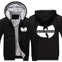 2017 Для мужчин Для женщин Wu Tang куртка на молнии Сгущает Толстовка Пальто Повседневное Зимняя одежда
