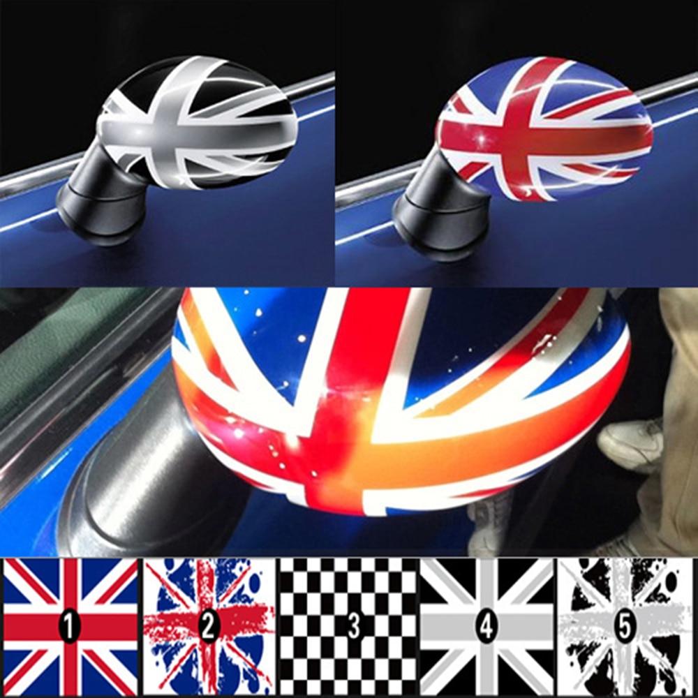 Aliauto 2 x avtomobilin arxa görünüşü güzgü stikerləri tamamilə BMW MINI COOPER üçün güzgülər ilə əhatə olunmuş super uzanan etiketlər.