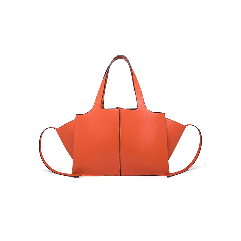 Genuine Leather Women's Fold handbag 2018 New Fashion Wings design High Capacity Lady Shopping Tote Trapeze Shoulder Bag Leisure 2017 new nail fold capillary microcirculation analysis instruments