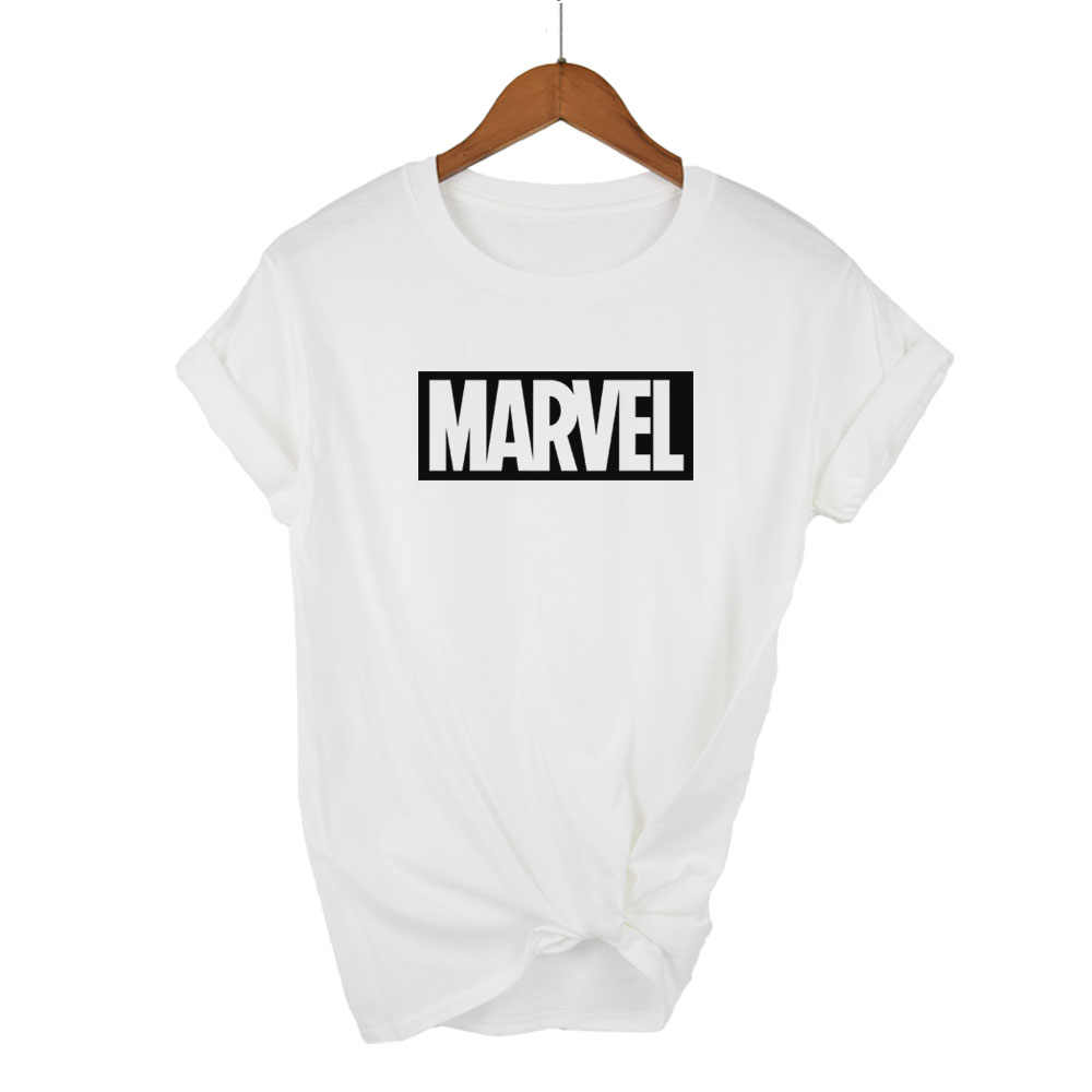 2018 אופנה Harajuku מזדמן נשים של חולצות פאנק רוק מארוול ts כותנה tumblr tshirt מקרית Hipster עבור Famale למעלה