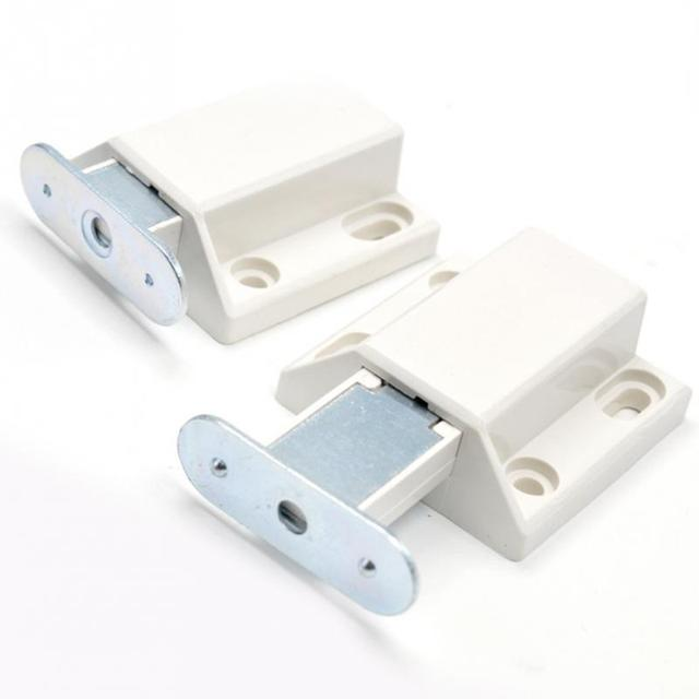 1Pcs Invisible Magnetic Cabinet Catch Push To Open Touch Latch Cupboard  Drawer Door Stop Damper Buffers
