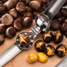 304 нержавеющая сталь 2 в 1 быстрый нож с зажимом для каштанов щипцы для грецких орехов металлический Щелкунчик Шеллер Гайка открывалка кухонные инструменты приспособления для резки
