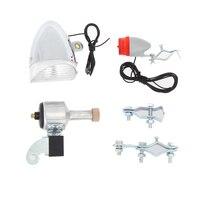 3pcs SX02 Bike Cycling Light Headlight Rear Light Tail Light Set Dynamo Lights No Battery Headlight