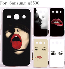 Mobile Phone Cover For Samsung Galaxy Core Plus G3500 G3508 Cases Sex Red Mouth Hard Plastic and Soft TPU Phone Screen Protector