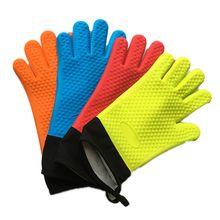 Барбекю Силиконовые перчатки для кухни-перчатки для гриля Жаростойкие кулинарные рукавицы для гриля рукавицы для микроволновой печи перчатки