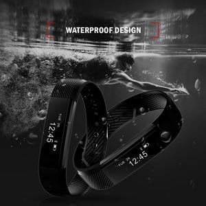 Image 4 - ID115 חכם Wristbands כושר גשש חכם צמיד פדומטר Bluetooth Smartband שינה Waterproof צג שעון יד
