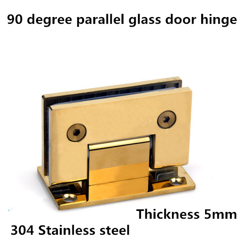 90 degree Golden color Stainless Steel 304 parallel glass door hinge