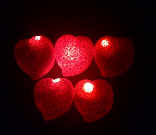 Romantic Red Rose Love Lamp Solid Color Rose Lamp Red Heart Rose Small  Night Light